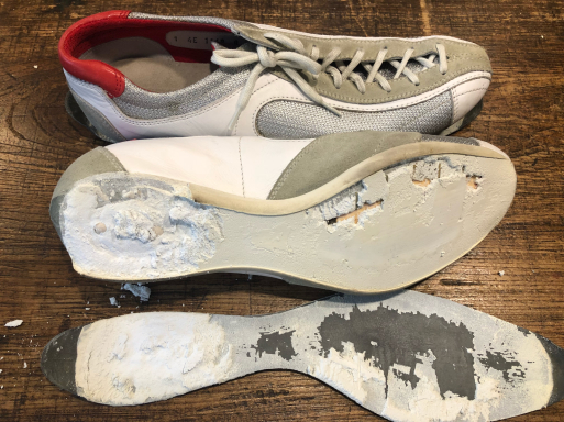 PRADA プラダ スニーカー ブランド靴 ソール修理_b0178425_10552537.jpg