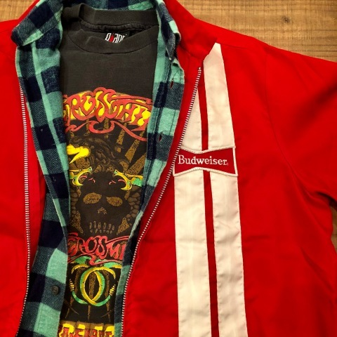"1970s "" SWING STER \"" CLASSIC NYLON - BUD WEISER - Official RACING JACKET ._d0172088_21061432.jpg"