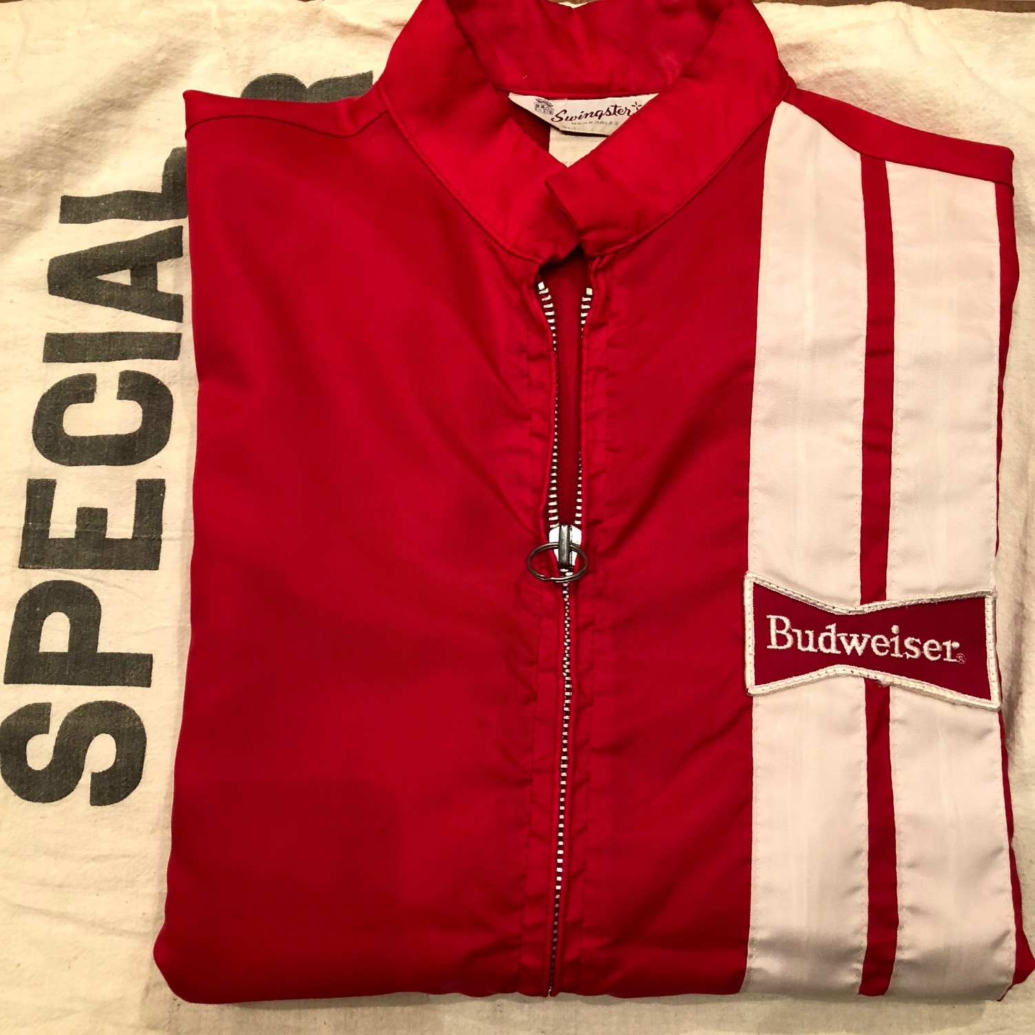 "1970s "" SWING STER \"" CLASSIC NYLON - BUD WEISER - Official RACING JACKET ._d0172088_21072860.jpg"