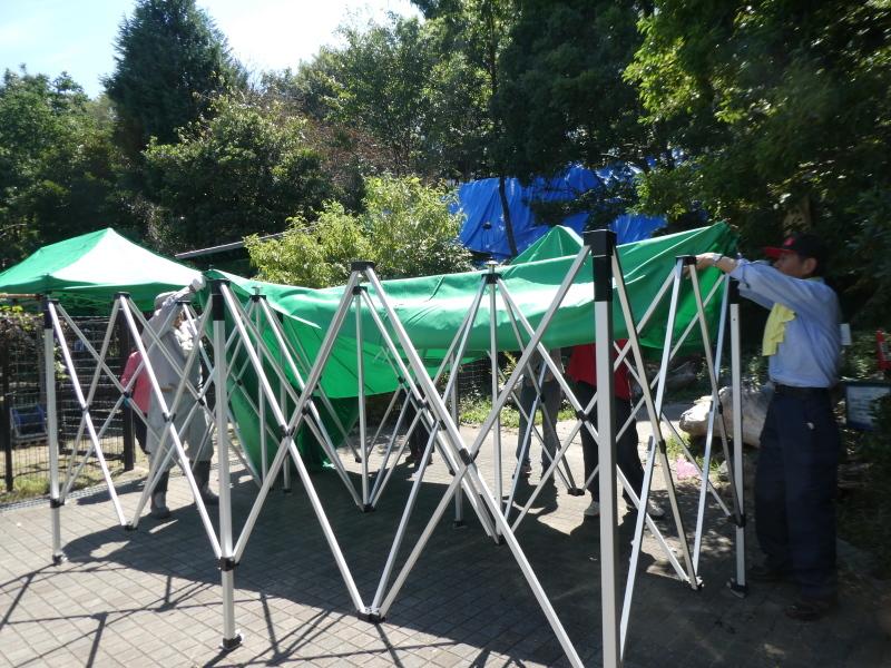 イベントの準備:テント張り・・・うみべの森_c0108460_16480948.jpg