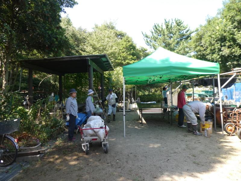 イベントの準備:テント張り・・・うみべの森_c0108460_16521491.jpg