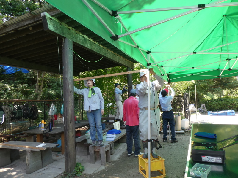 イベントの準備:テント張り・・・うみべの森_c0108460_16521562.jpg