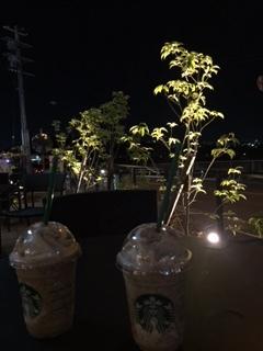 夜スタバで~☆_e0123286_20001088.jpg