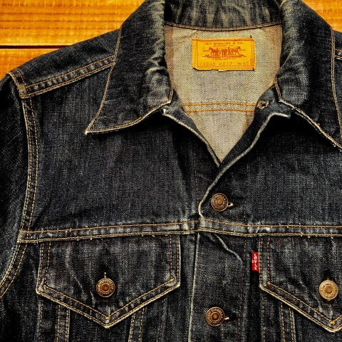"Early 1970s "" リーバイス \"" - SMALL e - 70505 VINTAGE DENIM TRUCKER JACKET - Rigid Condition - ._d0172088_21485977.jpg"