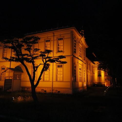 今日からアルツハイマー月間なので、ライトアップをオレンジに!_c0075701_20562300.jpg