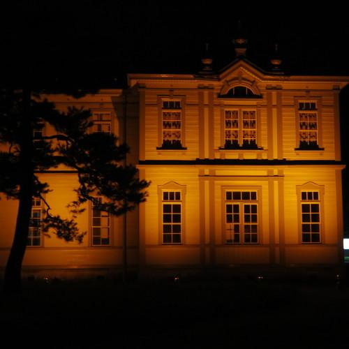 今日からアルツハイマー月間なので、ライトアップをオレンジに!_c0075701_20563770.jpg