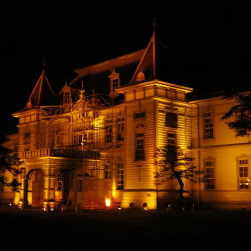 今日からアルツハイマー月間なので、ライトアップをオレンジに!_c0075701_20564132.jpg
