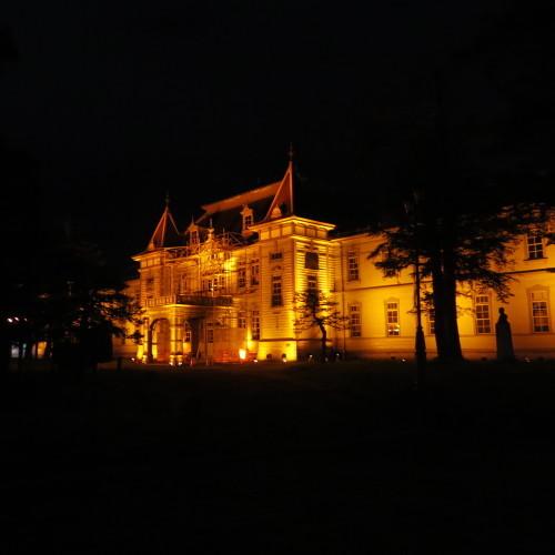 今日からアルツハイマー月間なので、ライトアップをオレンジに!_c0075701_20564507.jpg