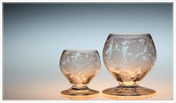 """バカラ フォントネイ Baccarat \""""Fontenay\"""" アンティーク オールド バカラ ローズ とても小さなグラス_d0184921_15262342.jpg"""