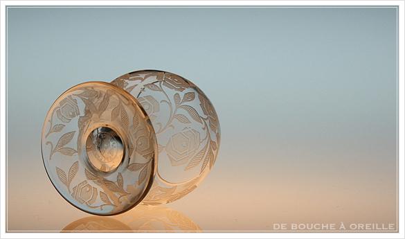 """バカラ フォントネイ Baccarat \""""Fontenay\"""" アンティーク オールド バカラ ローズ とても小さなグラス_d0184921_15293210.jpg"""