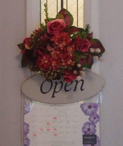 ドアのお花 リニューアル_e0169493_20410942.jpg