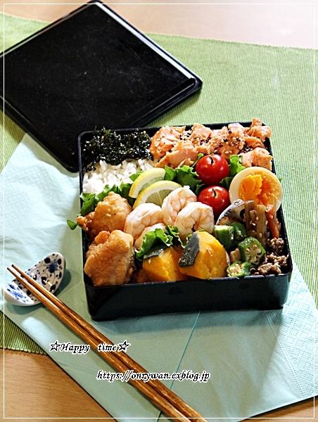 月曜鮭弁とパン焼き・湯種食パン♪_f0348032_17560249.jpg