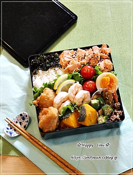 月曜鮭弁とパン焼き・湯種食パン♪_f0348032_17561144.jpg