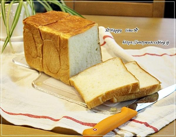 湯種食パンで朝ごパン♪_f0348032_18211068.jpg