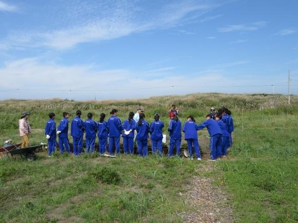 石狩中学校 環境学習_f0354435_14481295.jpg