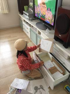 [小学1年生日記 ⑧] どんどんたまる 子どもの作品や絵を 手放すための仕組みづくりと声掛け♪_a0239890_09564407.jpg