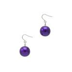 身につける漆 漆のアクセサリー チタン ユーロワイヤー ピアス 糖蜜珠 本紫色 坂本これくしょんの艶やかで美しくとても軽い和木に漆塗りのアクセサリー SAKAMOTO COLLECTION wearable URUSHI accessories pierces Molasses Jewel Pure purple 糖蜜のようにつややかな丸い珠が耳元で女性らしくゆらゆら揺れる愛らしいフォルム、日本人の肌に合う上品でクールな印象の発色良い鮮やかなパープルカラー、とても軽くて耳元に負担がかかりにくいのが嬉しい、かぶれ防止コートで安心です。 #漆のアクセサリー #軽いピアス #漆のピアス #ピアス #紫色ピアス #ユーロワイヤーピアス #ピュアパープル #本紫色 #accessories #jewelry #pierces #Molasses #Jewel #Pure #purple #漆塗り #耳が痛くない