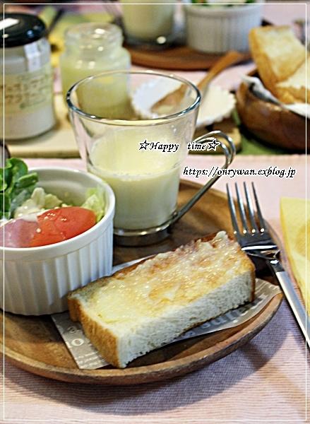 湯種食パンで朝ごパン♪_f0348032_18133539.jpg