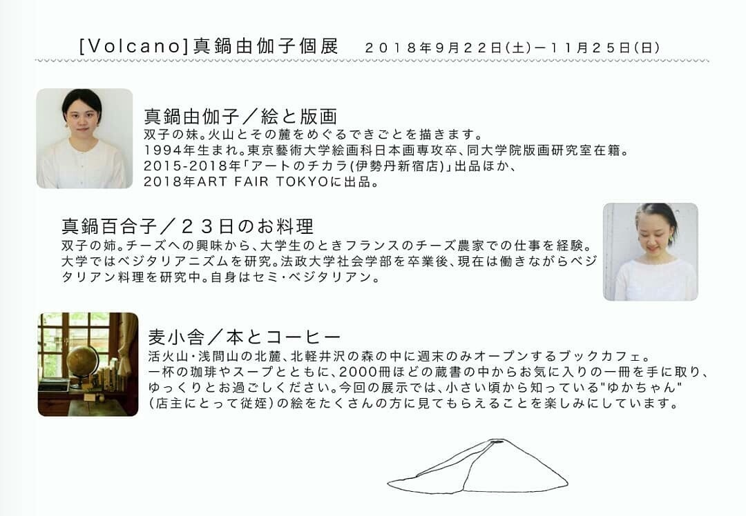 Volcano(ボルケーノ)〜真鍋由伽子個展〜(9月22日〜11月25日)_d0028589_14200344.jpg