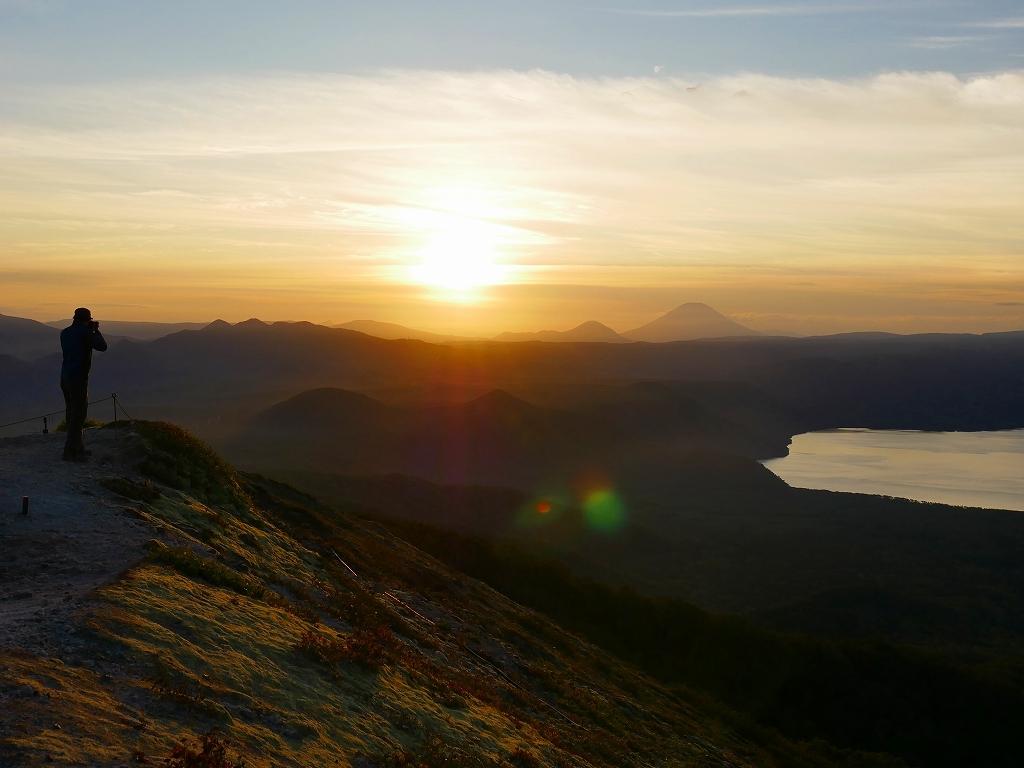 樽前山からの夕日、2018.9.2_f0138096_16204433.jpg
