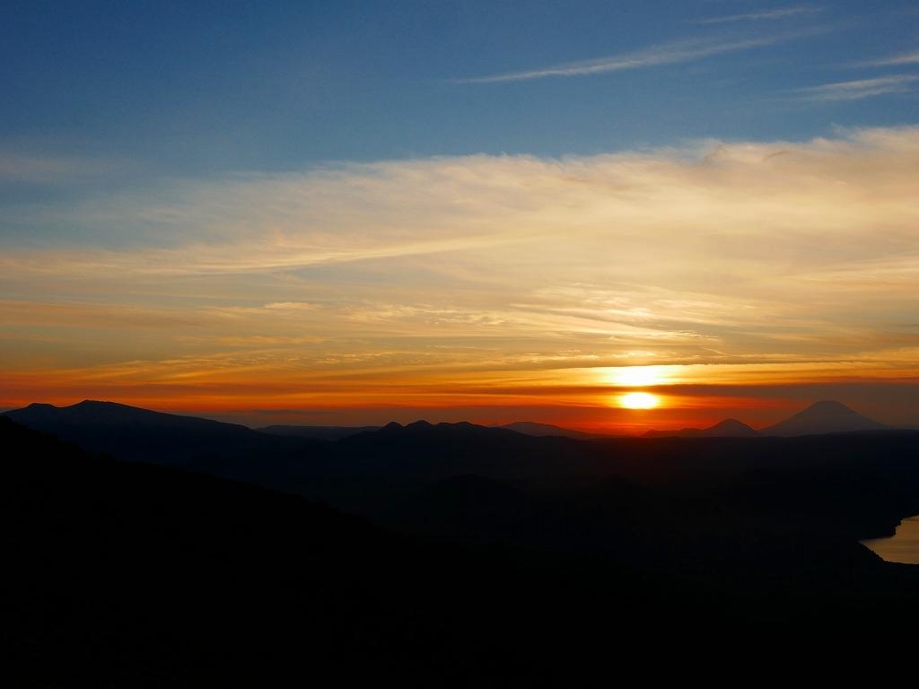樽前山からの夕日、2018.9.2_f0138096_16215110.jpg