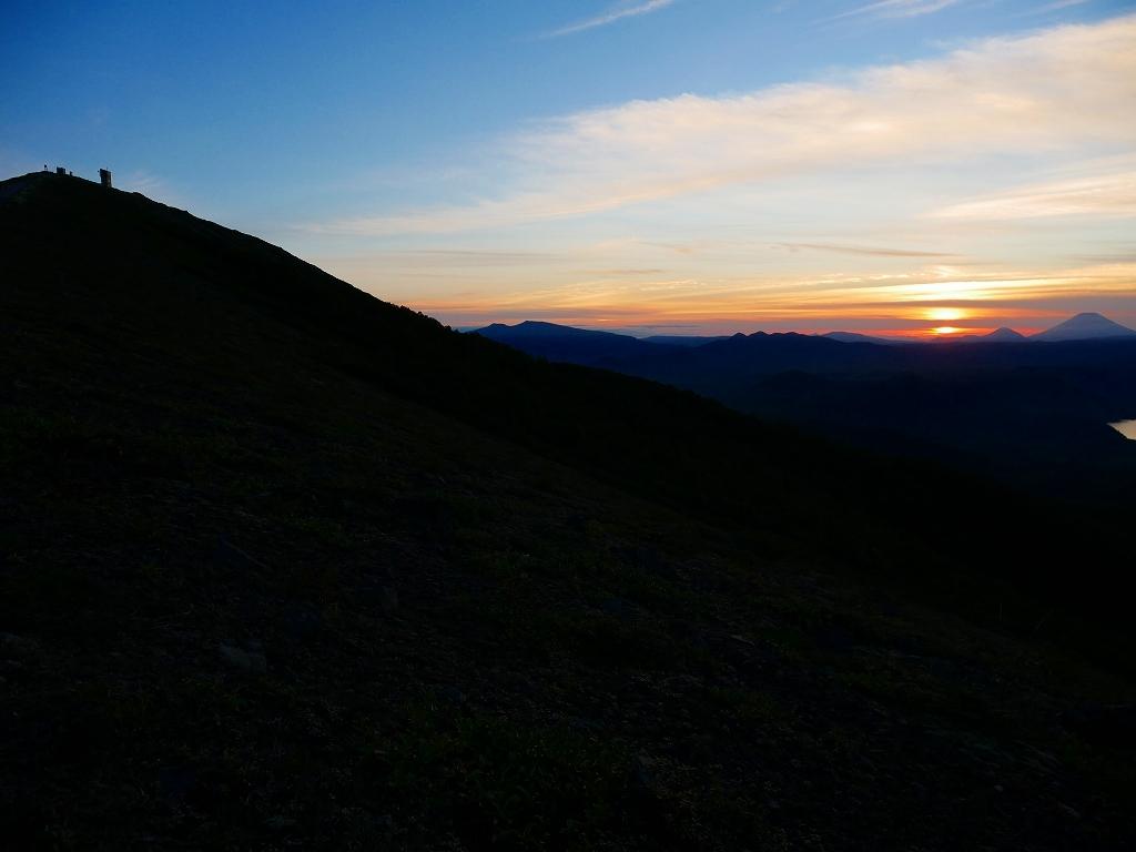 樽前山からの夕日、2018.9.2_f0138096_16231130.jpg