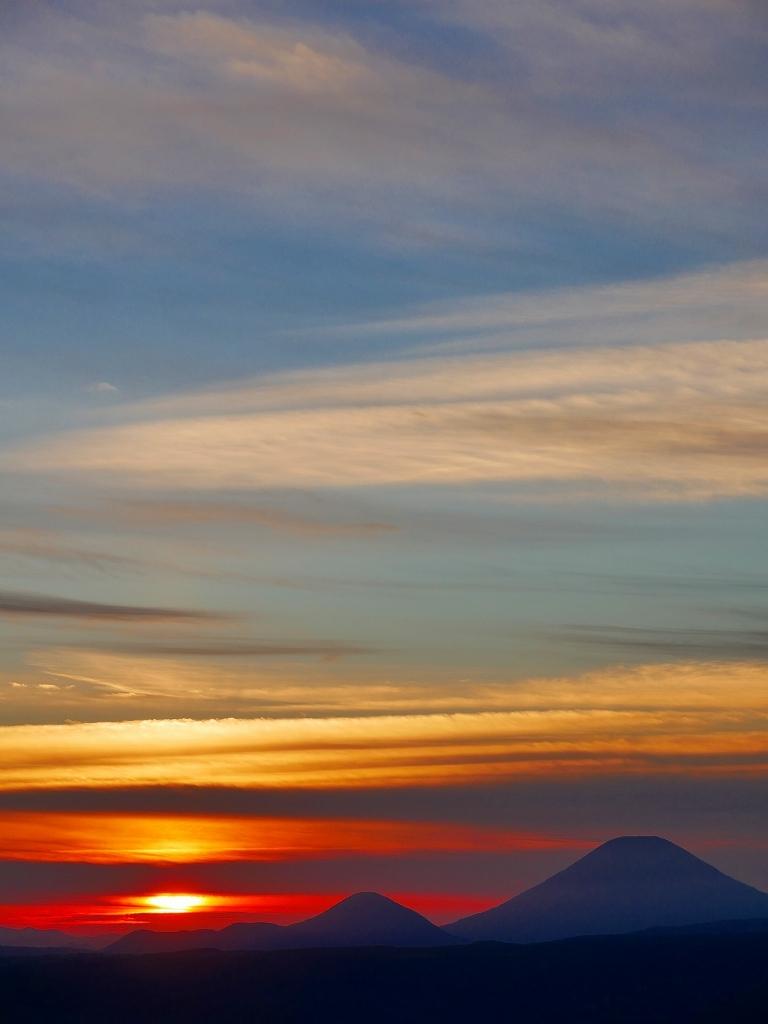 樽前山からの夕日、2018.9.2_f0138096_16233047.jpg
