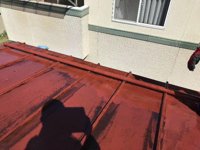 屋根塗装 初日高圧洗浄_f0031037_19380420.jpg