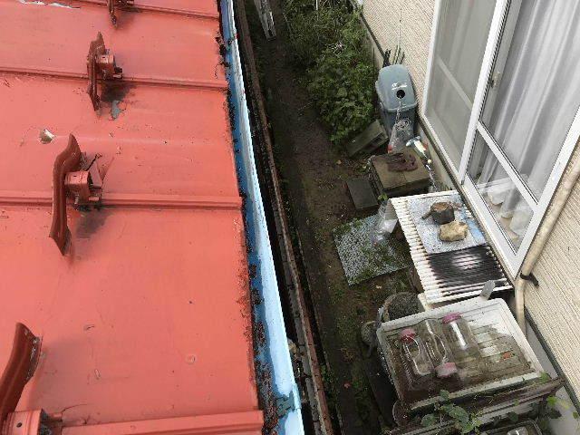 屋根塗装 初日高圧洗浄_f0031037_19402818.jpg