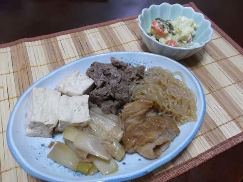 すき焼き風煮物&ポテトサラダ_f0019498_20265311.jpg