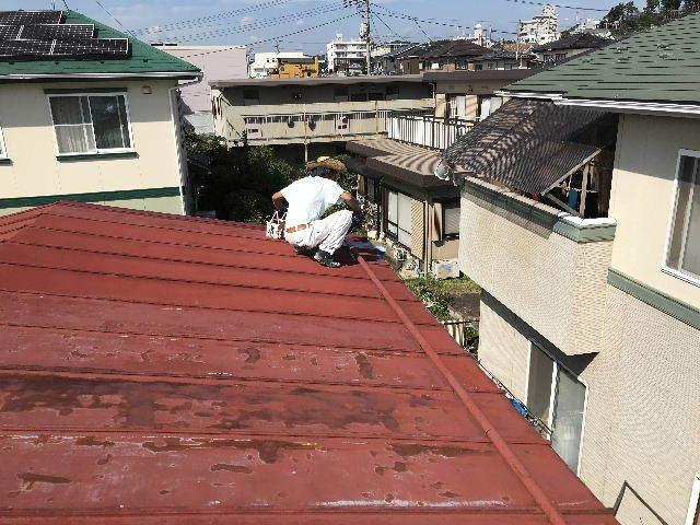 屋根塗装2日目_f0031037_19512022.jpg