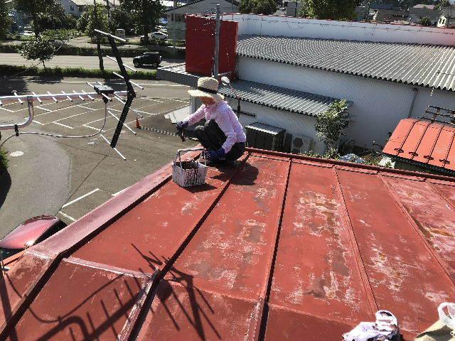 屋根塗装2日目_f0031037_19512043.jpg