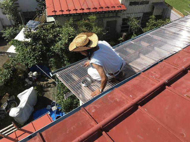 屋根塗装2日目_f0031037_19512060.jpg
