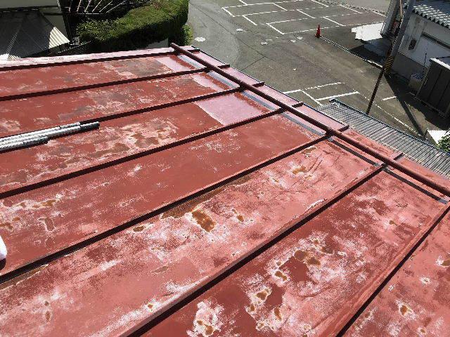 屋根塗装2日目_f0031037_19524576.jpg