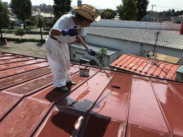 屋根塗装2日目_f0031037_19524643.jpg