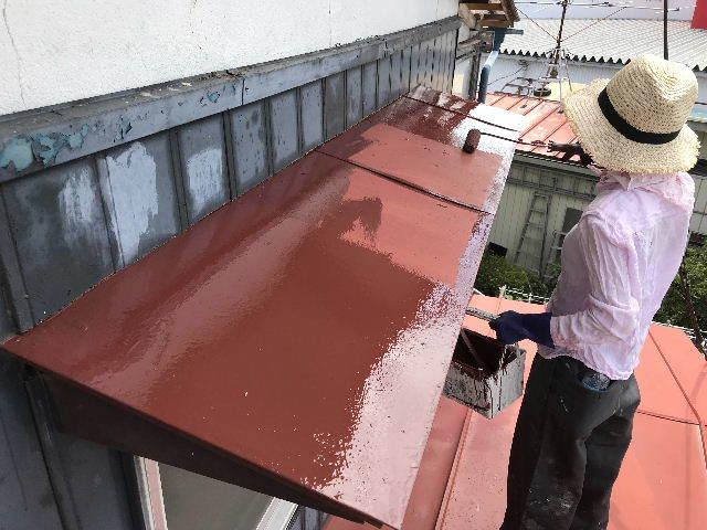 屋根塗装2日目_f0031037_19531685.jpg
