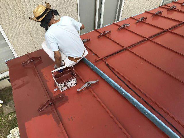 屋根塗装2日目_f0031037_19531686.jpg