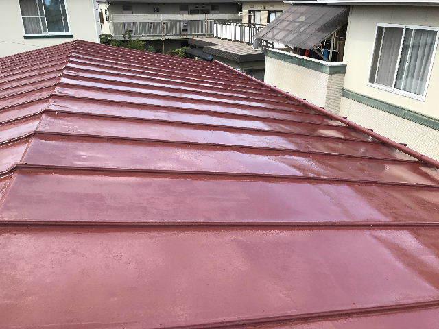 屋根塗装2日目_f0031037_19531723.jpg