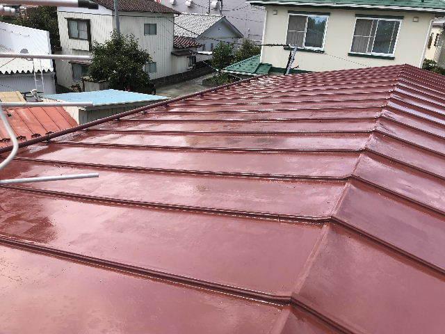 屋根塗装2日目_f0031037_19531727.jpg