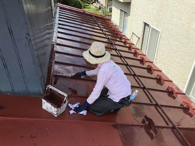 屋根塗装2日目_f0031037_19534783.jpg