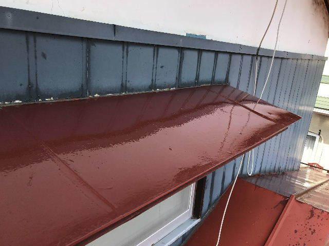屋根塗装2日目_f0031037_19541157.jpg