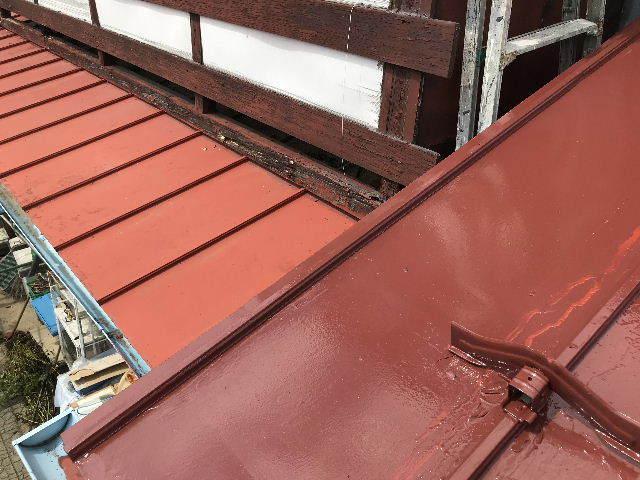 屋根塗装2日目_f0031037_19543416.jpg