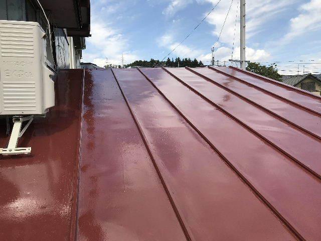 屋根塗装2日目_f0031037_19543494.jpg