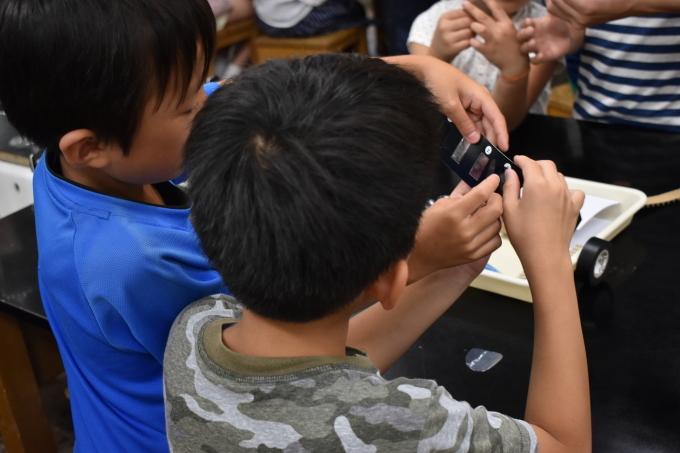 2018/08/23 偏光万華鏡工作教室@東調布第一小学校_f0240709_23124582.jpg