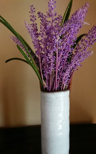 ヤブランの花。土鍋でご飯を炊きました。_d0390236_08383439.jpg