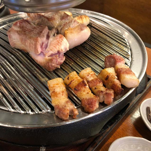 18年8月末ソウル7☆サムギョプサルもモクサルも美味しい@高飯食堂_d0285416_06495069.jpg