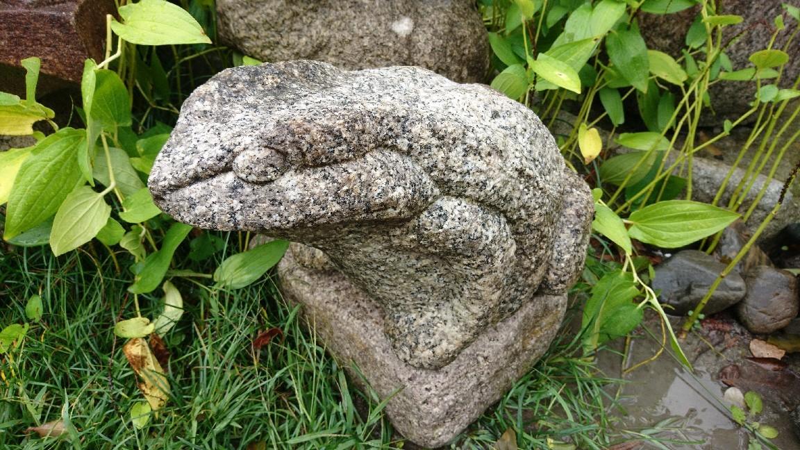 白川石製カエル_f0183722_10521478.jpg