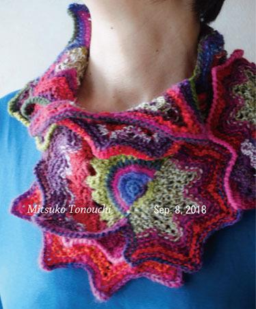 """スカーフ (流れ星)     my knitting scarf \""""a shooting star\""""_b0029036_15005452.jpg"""