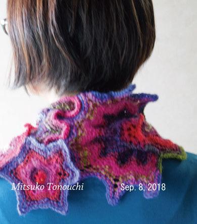 """スカーフ (流れ星)     my knitting scarf \""""a shooting star\""""_b0029036_15010519.jpg"""
