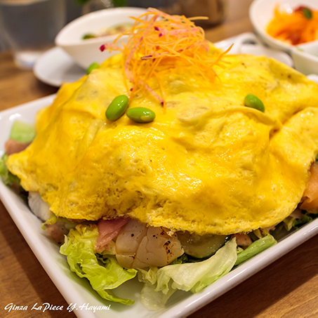 料理の風景 オムレツ的なサラダプレート_b0133053_00301769.jpg